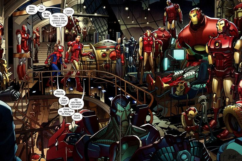 Iron Man Comic Wallpaper download free.
