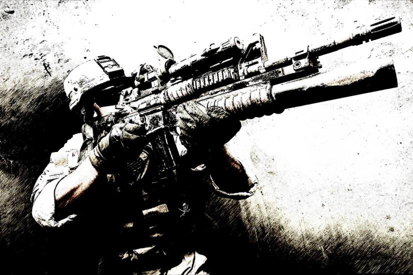 Military - Soldier Marine Wallpaper