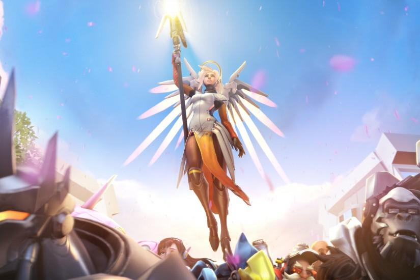 beautiful mercy overwatch wallpaper 2880x1800