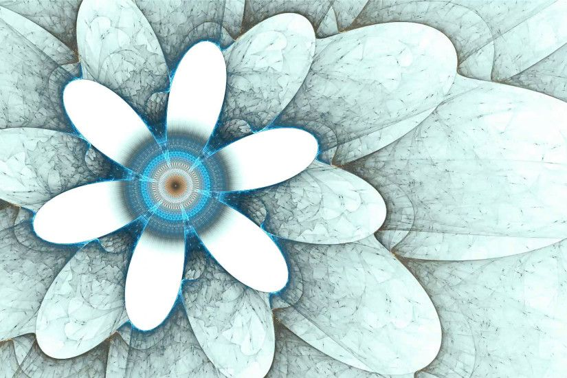 blue flower, spring, floral background, flowers on white, spring, abstract  illustration animated, 30fps, HD1080, seamless loop Motion Background - ...