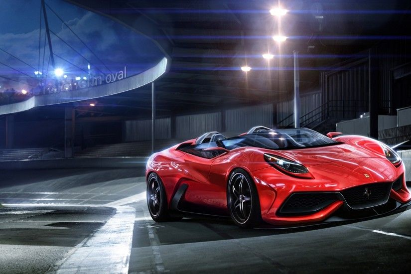 Sleek Red Sports Car Wallpaper