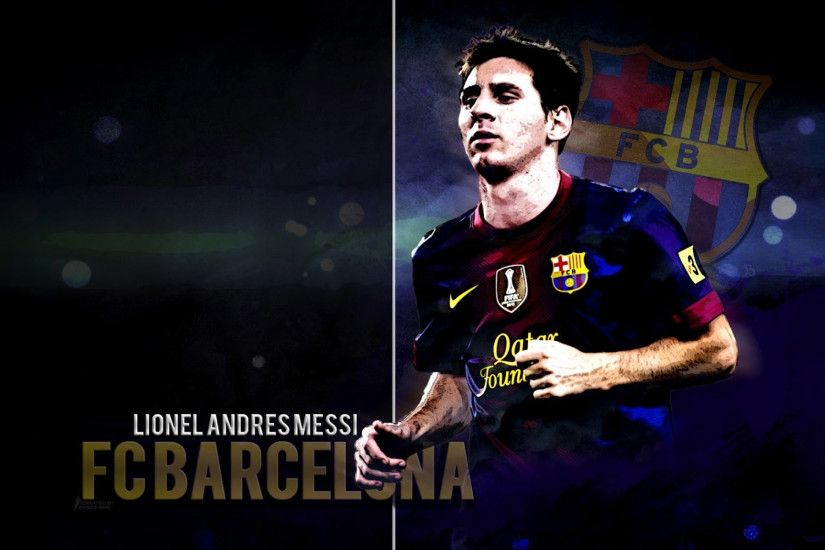Lionel Messi HD Wallpaper FC Barcelona.