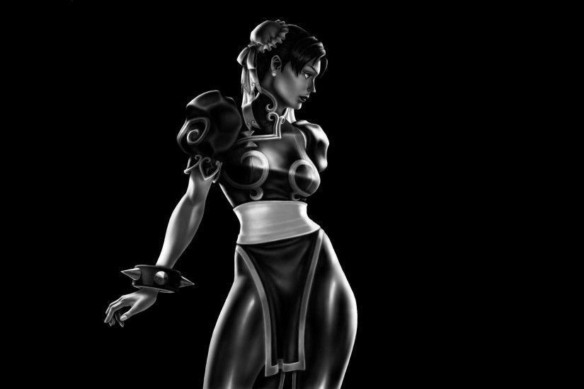 Sonya anime character, artwork, video games, Chun-Li, Street Fighter HD