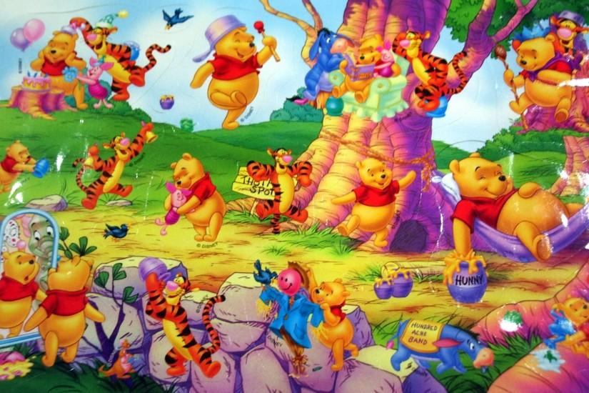 Wallpaper of winnie the pooh Stock Free Images