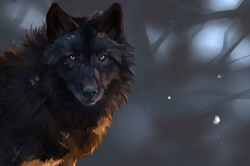 Black wolf eyes wallpapers - photo#24