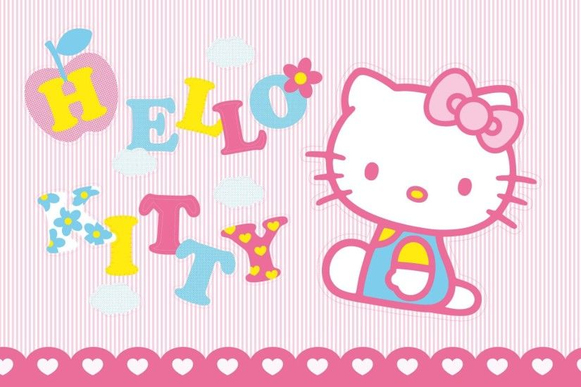 Lined Background of Hello Kitty