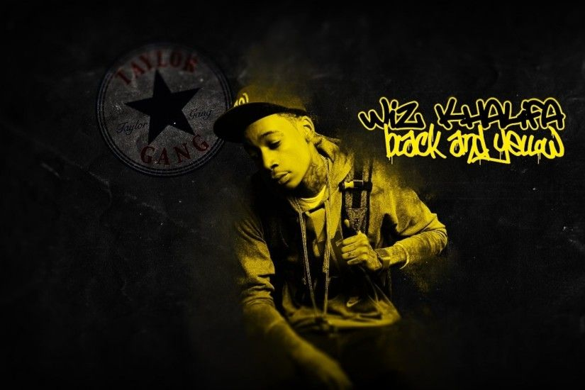 2560x1600 black yellow snoop dogg wiz khalifa taylor gang black and yellow wiz  khalifa Wallpaper HD