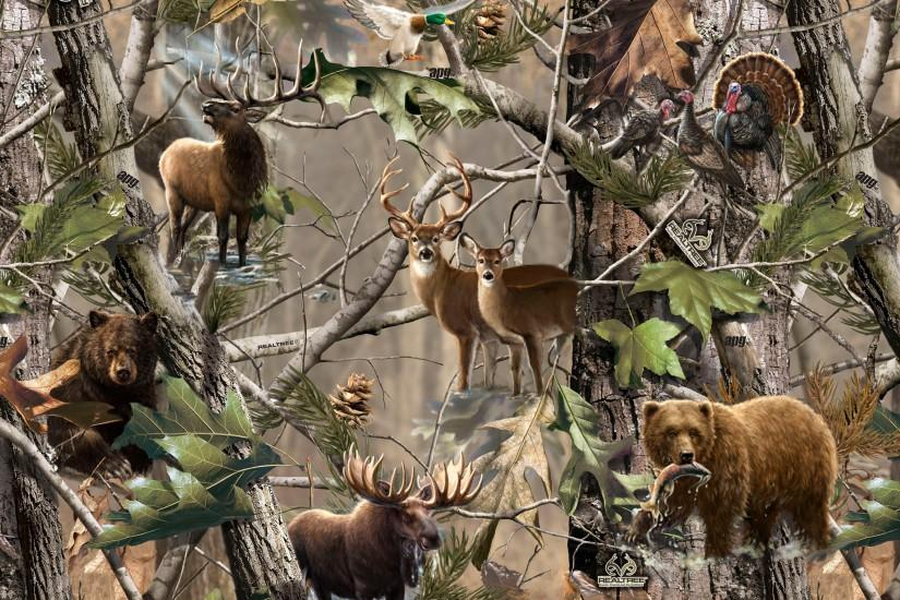 Deer Hunting Camo Backgrounds Deer fabric real tree deer