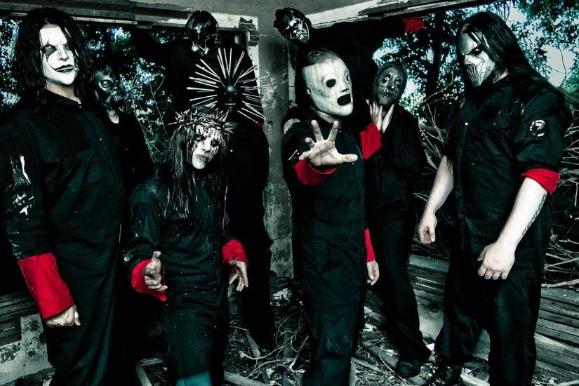 Preview wallpaper slipknot, masks, image, hands, costumes 1920x1080