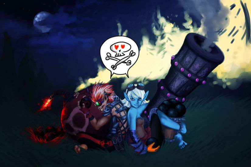 ... Tristana and Ziggs Personified by S-Athena