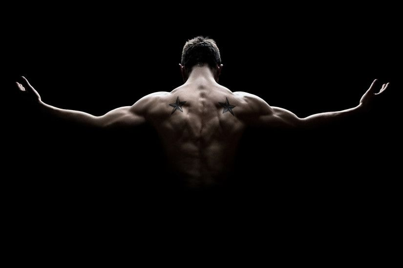 Wallpaper Men Muscle Human back Black background 1920x1080 Man