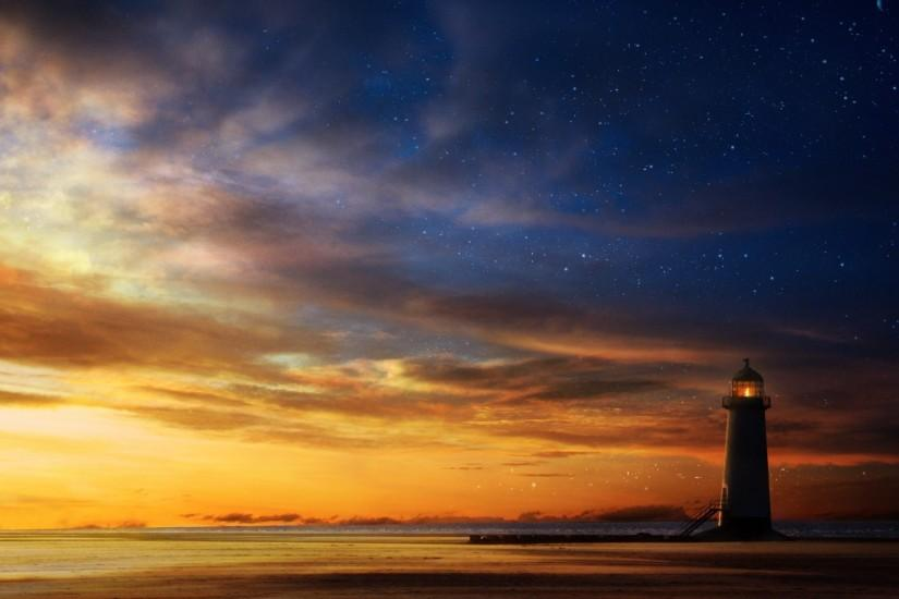 Lighthouse At Sunset Wallpapers - - 563619