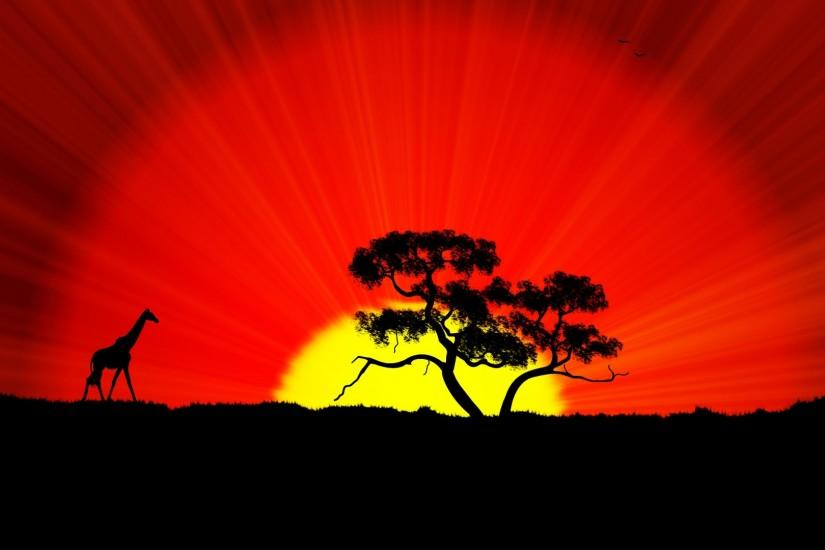 World Africa Wallpaper, Sunset | HD Desktop Wallpapers