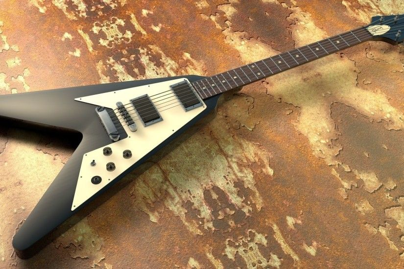 ... kirk hammett - flying v 3d model obj 3ds fbx c4d dxf stl 3 ...
