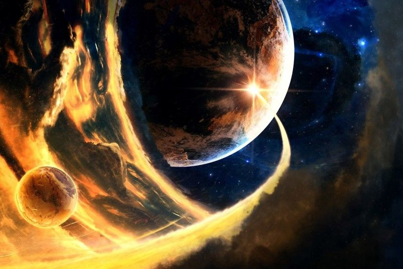 Fire Space D Hd Wallpaper Desktop