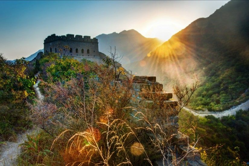 Great Wall of China Sunset Wallpaper