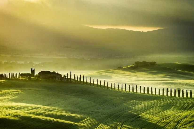 mobile wallpapers, pictures, green, italy,farm, hills, tuscany, windows hd,  landscape, wallpapers Wallpaper HD