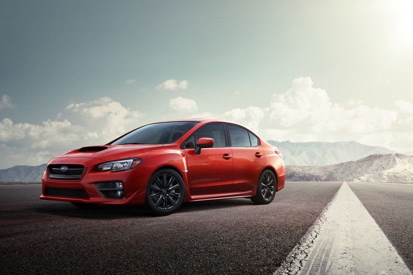 2015 Red Subaru WRX STI Desktop Wallpaper for 2560x1440