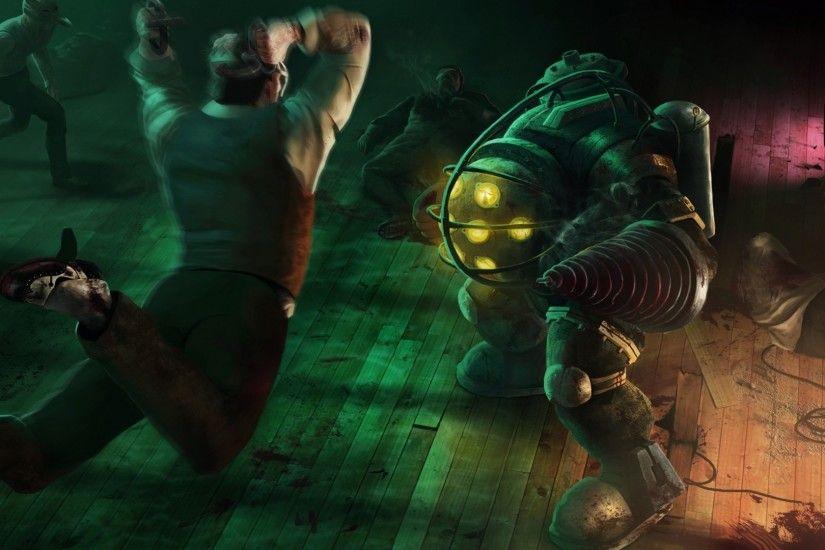 Video Games BioShock Big Daddy Mr Bubbles Rapture Wallpapers HD Desktop