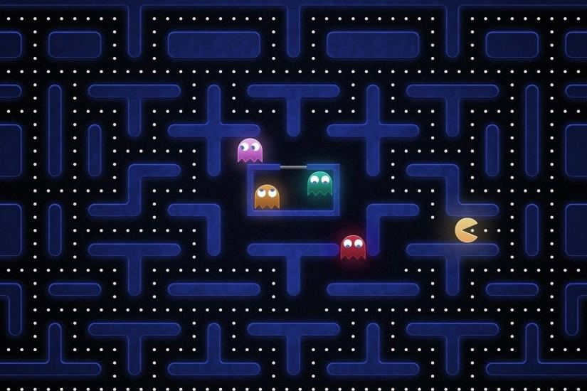 Preview wallpaper pacman, maze, harassment, search 1920x1080