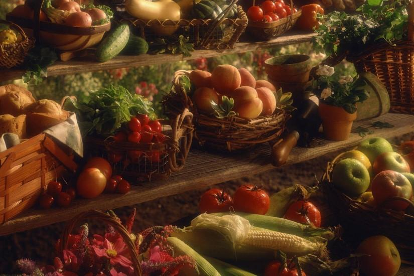 5. thanksgiving desktop wallpaper free5. 6. Assorted produce at rustic  farmers market