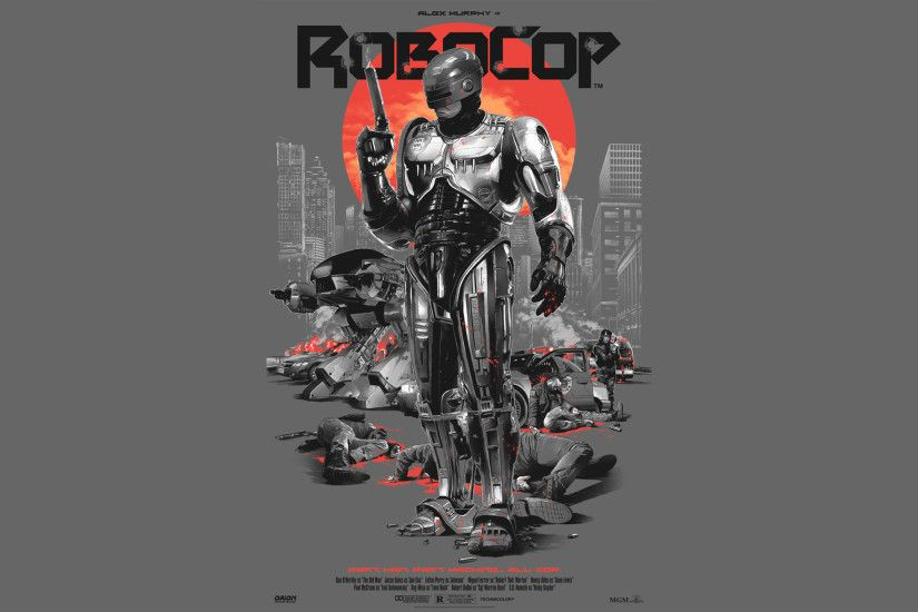 3 Wallpapers made from Artist Grzegorz Domaradzki's badass Robocop Posters  [2560x1440]