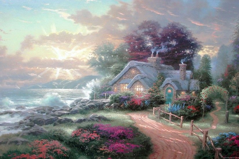Hd Wallpapers Thomas Kinkade 1920 X 1080 1268 Kb Jpeg | HD Wallpapers .