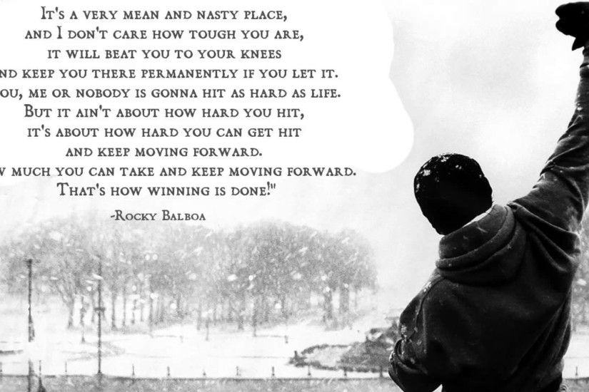 Movie - Rocky Rocky Balboa Motivational Quote Rocky (Movie) Wallpaper