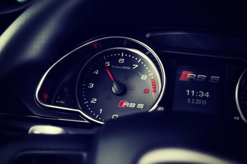 Audi RS5 Dashboard 4k HD Wallpaper