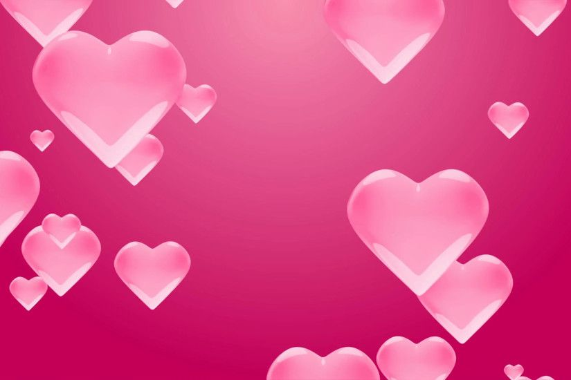 Flying love pink hearts on a pink background with alpha matte. Valentine's  Day 4K Background Loopable. Motion Background - VideoBlocks
