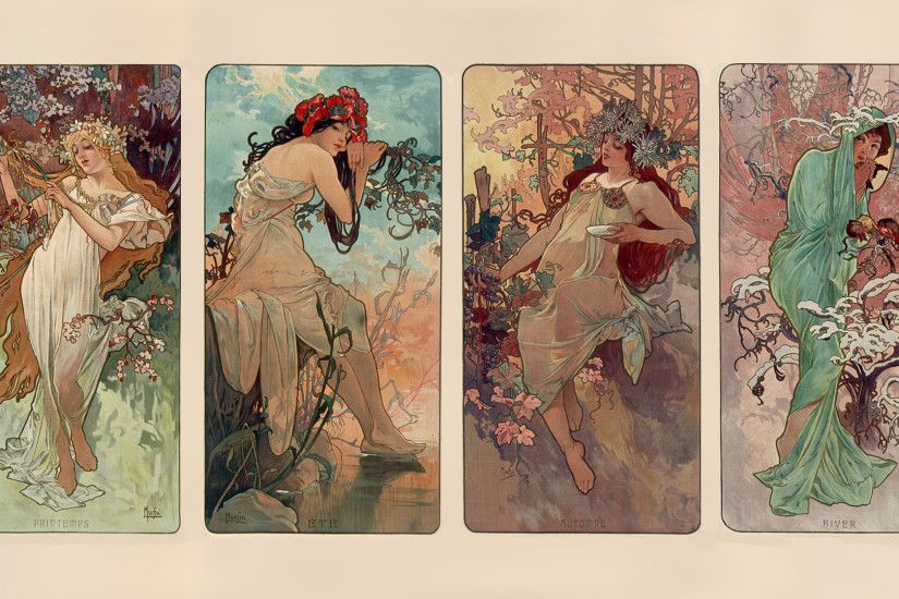 Alphonse Mucha Widescreen Wallpaper.