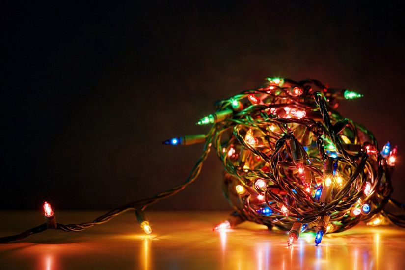 Christmas Lights Background Wallpapers | WIN10 THEMES
