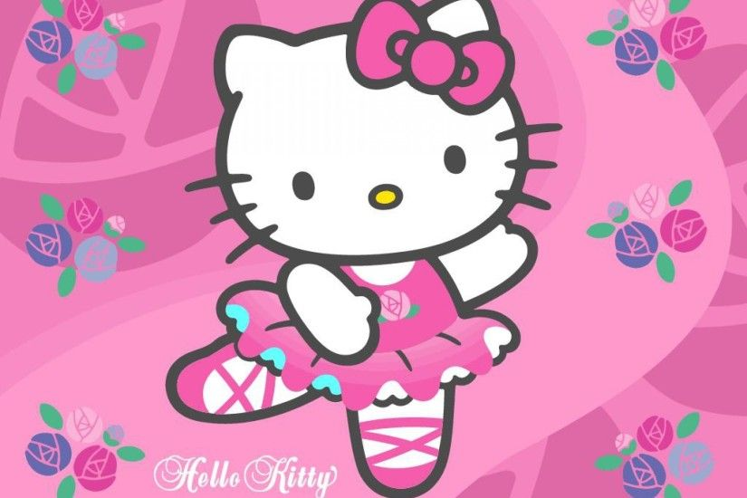 Purple Cute Hello Kitty Wallpaper