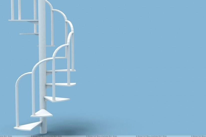 "You are viewing wallpaper titled ""White Stairs With Blue Background"" ..."