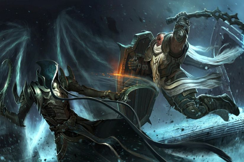 Preview wallpaper diablo iii reaper of souls, crusader, blizzard  entertainment, angel of death