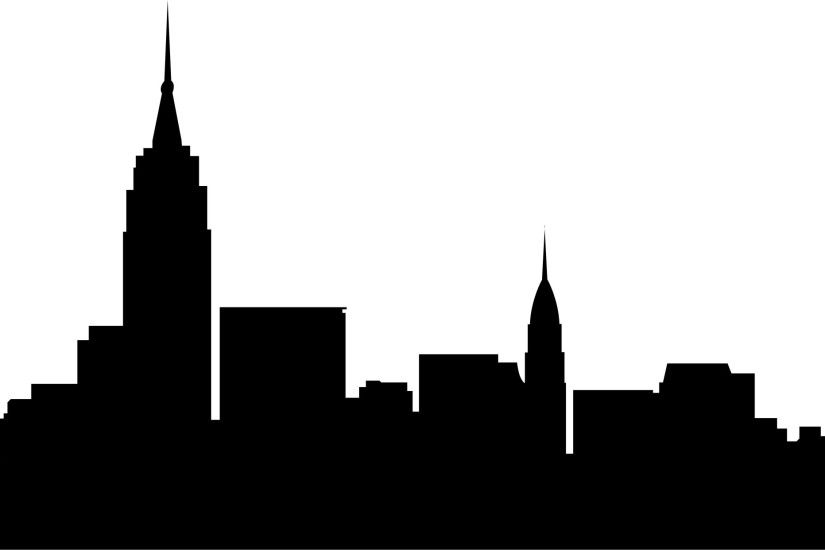 ... Chicago skyline design jpg 3302x1242 City silhouette no background ...