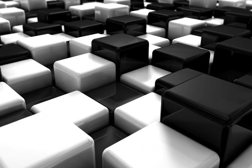 Black and White 3D Wallpaper 3579