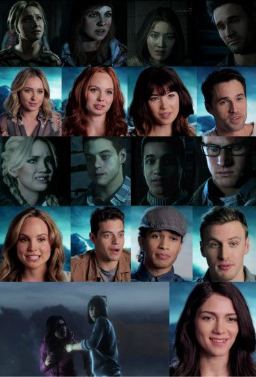 The cast and their characters in the PlayStation 4 (ONLY) Game: Until Dawn.  The cast look so alike from their characters