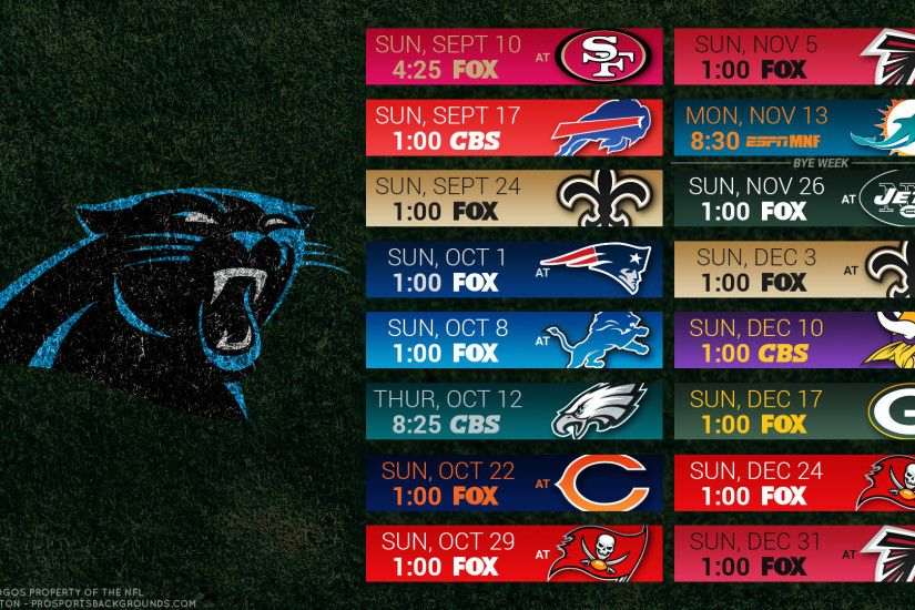 Carolina Panthers 2017 schedule turf football logo wallpaper free pc  desktop computer ...