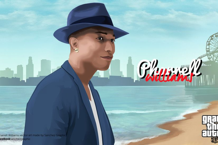 Pharrell Williams Vector by SanchezGraphic Pharrell Williams Vector by  SanchezGraphic