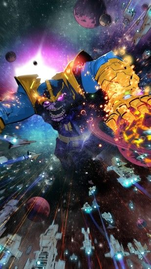 Thanos Comic Book Art Wallpaper for Desktop and iPhone, Android Samsung