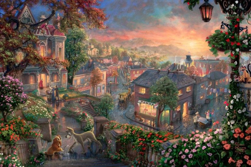 Thomas Kinkade Disney Wallpaper Tangled Thomas kinkade jungle book
