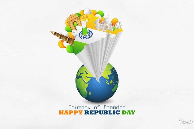 ... Journey Of Freedom Happy Republic Day HD Wallpaper ...