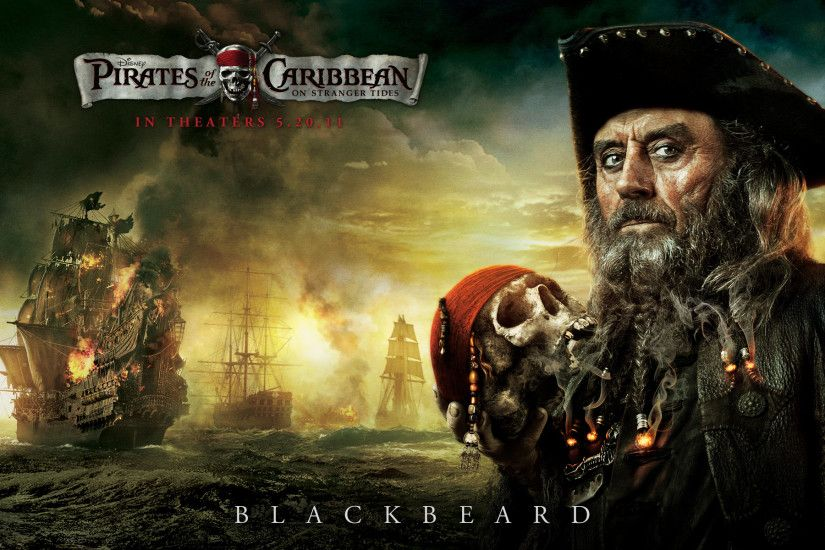Blackbeard from Pirates of the Caribbean wallpaper - Click picture for high  resolution HD wallpaper