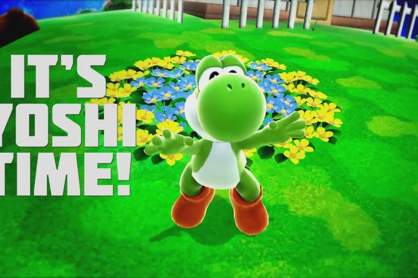 ... It's Yoshi Time - Smash Bros for Wii U - Wallpaper by Bluue-Sky