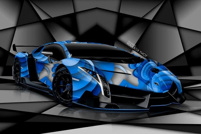 Lamborghini Veneno Wallpaper Blue