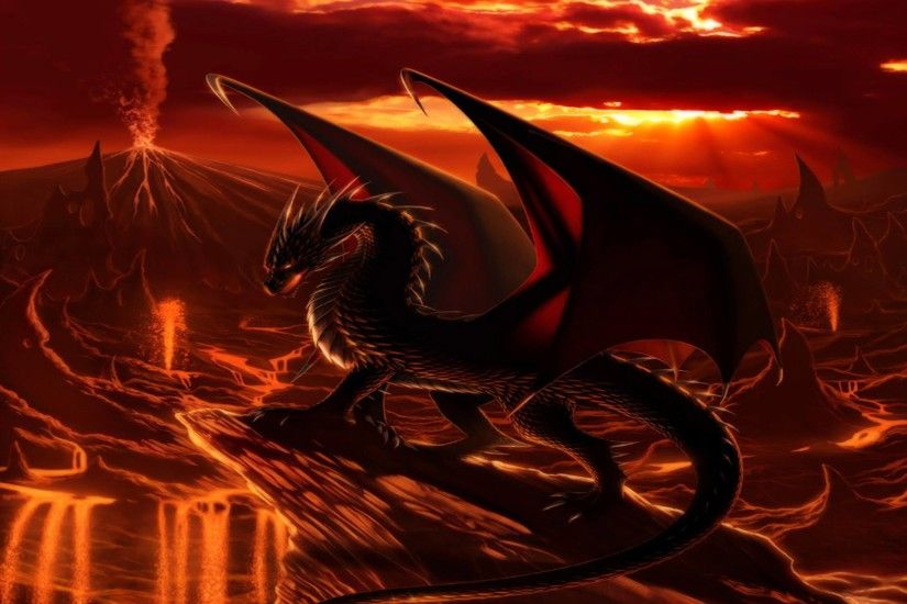 Images For > Cool Fire Dragon Wallpapers