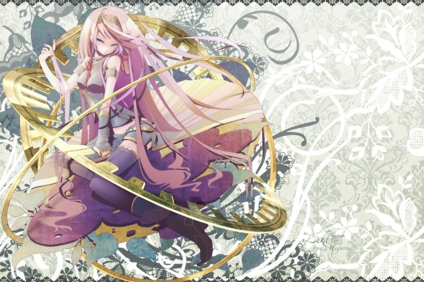 ... wallpaper starring Megurine Luka. Enjoy. Advertisements