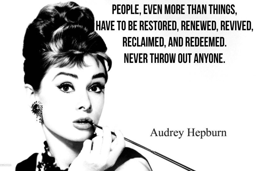 audrey with oversized cigarette holder quote