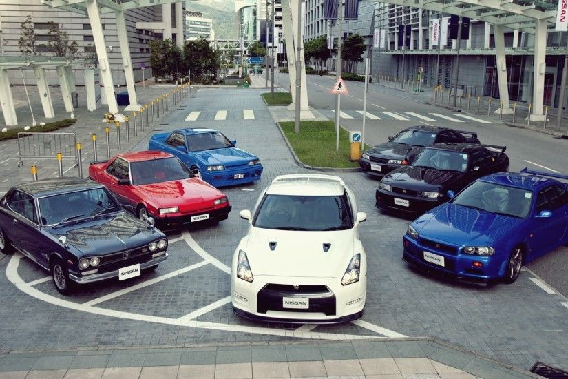Automobile Cars Japan Nissan GTR Gtr R32 R35 GT-R Skyline R34 Roads Streets  Vehicles ...